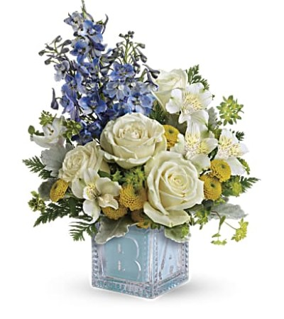 Welcome Little One Bouquet Baby Boy TNB08-1