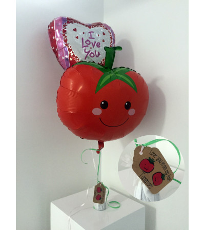 """""""Love you from my head TOMATOES"""" Valentine's Day balloon set"""