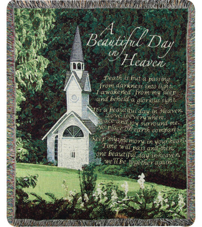 Tapestry Throw - A Beautiful Day In Heaven
