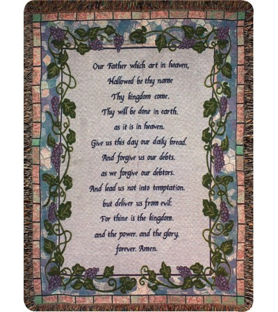 Tapestry Throw - The Lord's Prayer