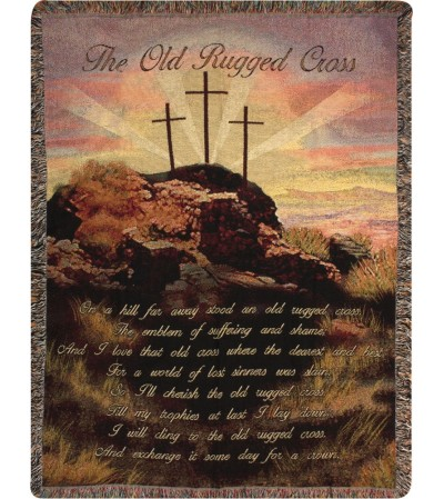 Tapestry Throw - Old Rugged Cross