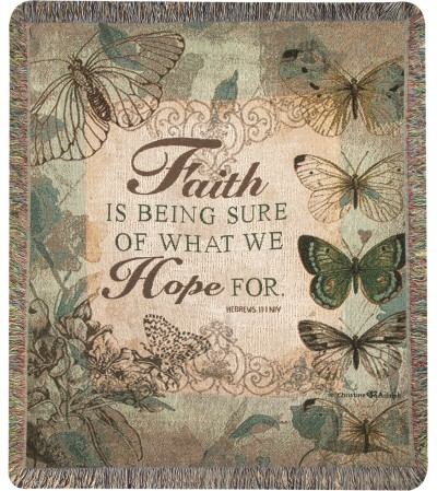 Tapestry Throw - Faith Is Being Sure