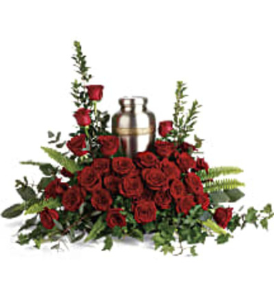 Teleflora's T280-1A Forever In Our Hearts Cremation Tribute