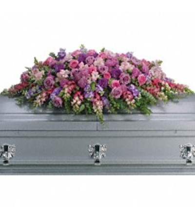 TRF235-2A - Lavender Tribute Casket Spray
