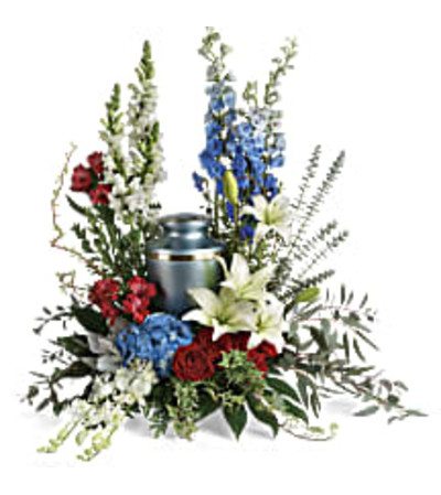 Teleflora's T281-8A - Reflections Of Honor Cremation Tribute