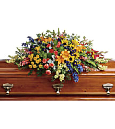 Teleflora's T282-5A Colorful Reflections Casket Spray