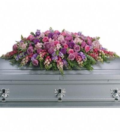 Lavender Tribute Casket Cover