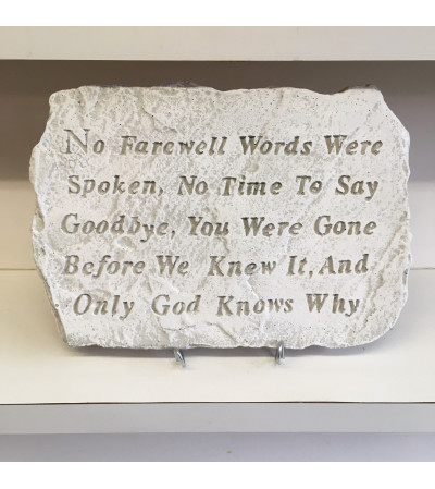 No Farewell Words