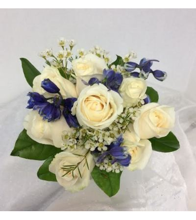 Prom BVP21 - Roses and Delph Bouquet (pick up only)