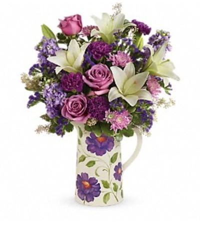 A Garden Pitcher Bouquet