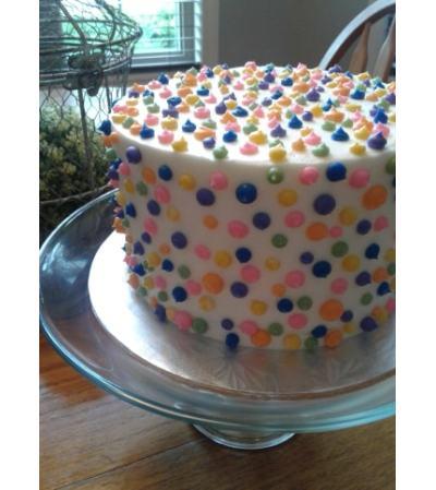 Bright Vanilla Delite Cake