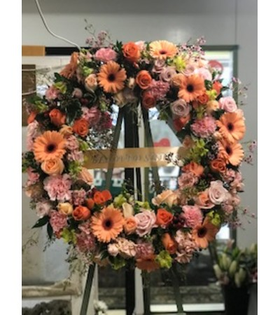 Peachy Wreath