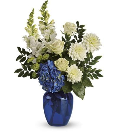 Large Vase-Blue & White