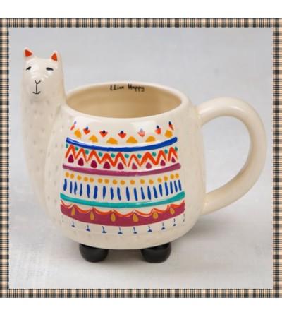 Llama Mug-Folk Art