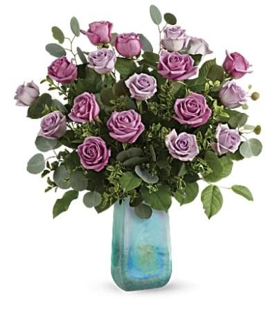 Watercolor Purple Roses