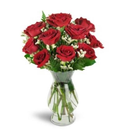 Dozen Red Roses Arranged Delivered in 1 Hour