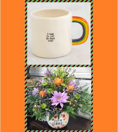 Rainbow Mug-Happy