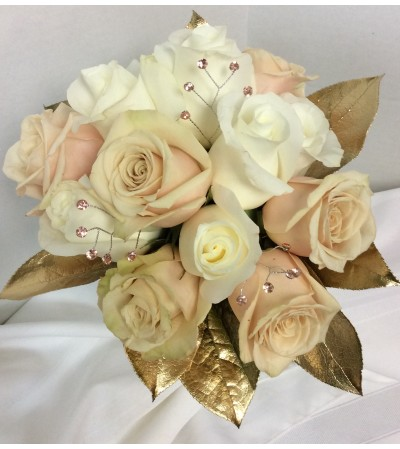 Prom BVP28 - Bold Gold Bouquet (pick up only)