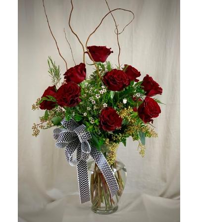 Dazzling Dozen - Exquisite Red Roses