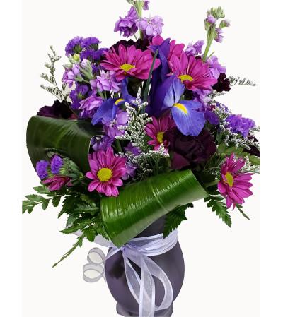 Peppy Purple Vase