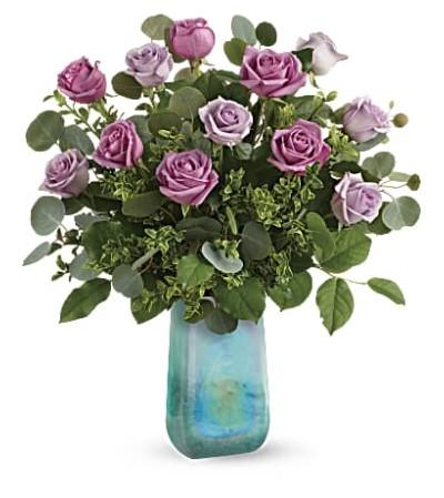 One Dozen Watercolor Roses Bouquet