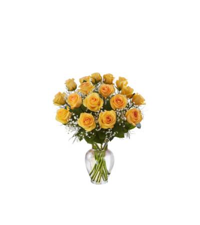 1 Dozen Deluxe Yellow Roses