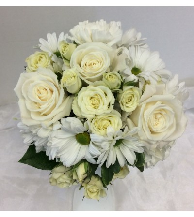Prom BVP5 - White Elegance Bouquet (pick up only)