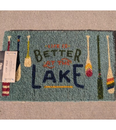 "Outdoor mat ""Life Is Better At The Lake"""
