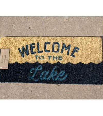 "Outdoor Mat ""welcome to the Lake"""
