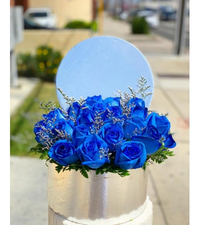 Blue Winter Box Bouquet