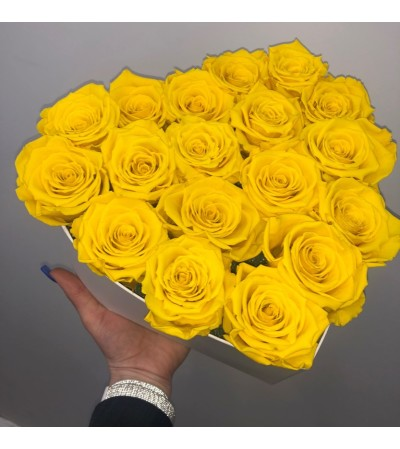 Forever Roses- 15 Yellow