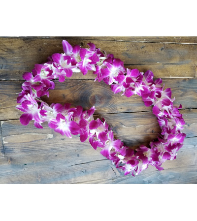 Double Bombay Orchid Lei