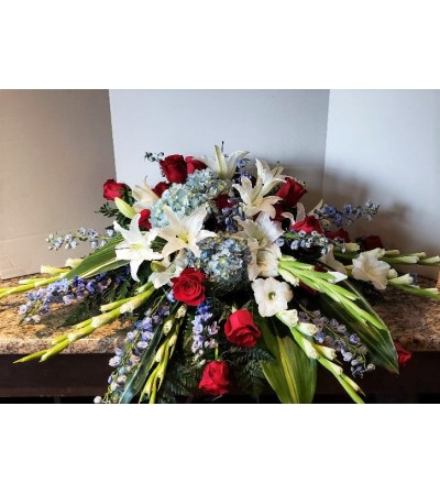 Patriot's Tribute Casket Spray