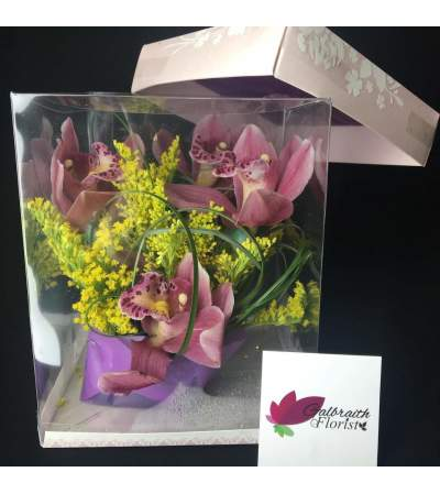Orchid flower box