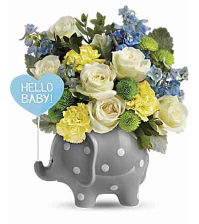 Hello Baby Elephant- Blue