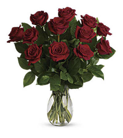 True Love with Red Roses Bouquet