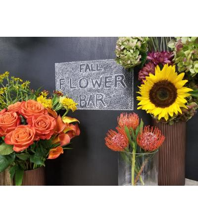 Fall Flower Bar Design Class September 25th.