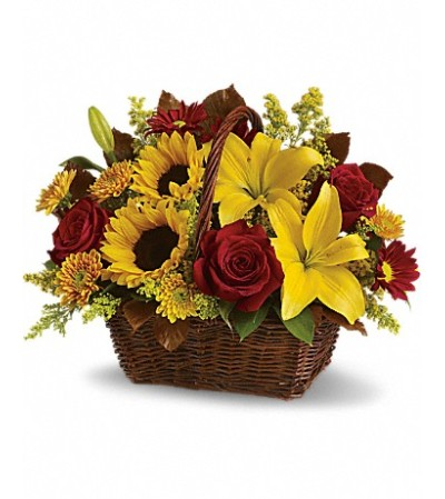 Golden Days Basket Blooms