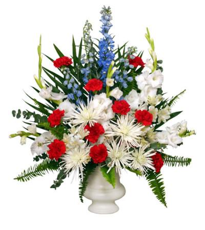 PATRIOTIC MEMORIAL Funeral Flowers - FSN