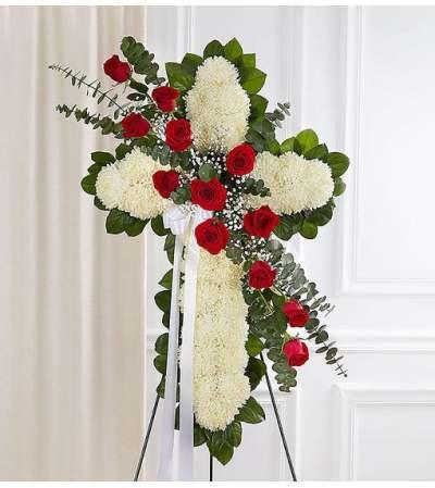 Cross-Red & White