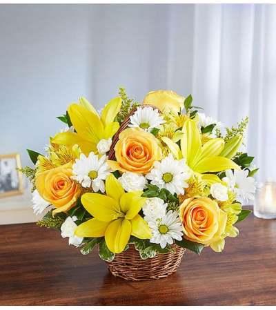 Basket Arrangement-Yellow