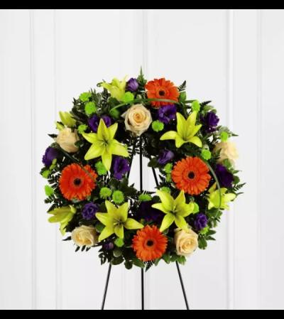 The Radiant Remembrance™ Wreath Arrangement
