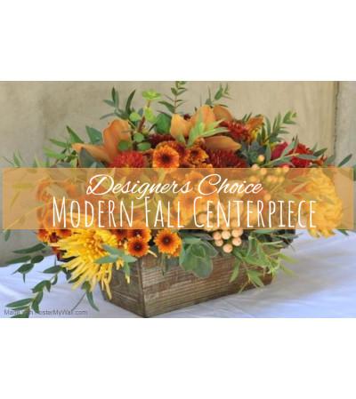 Modern Fall Centerpiece Florist Design