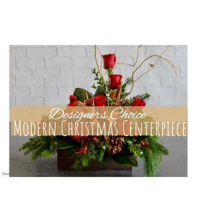 Modern Christmas Centerpiece Florist Design