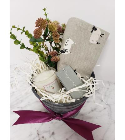 Tea Towel & Candle Gift Tin