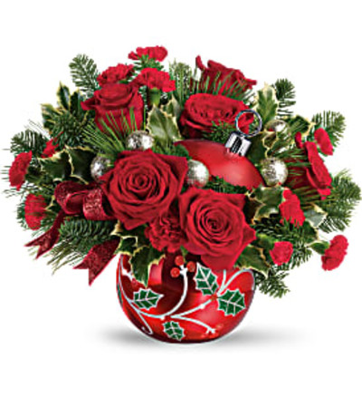 Deck The Holly Ornament Bouquet by Teleflora