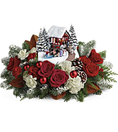 Thomas Kinkade's Snowfall Dreams Bouquet by Teleflora