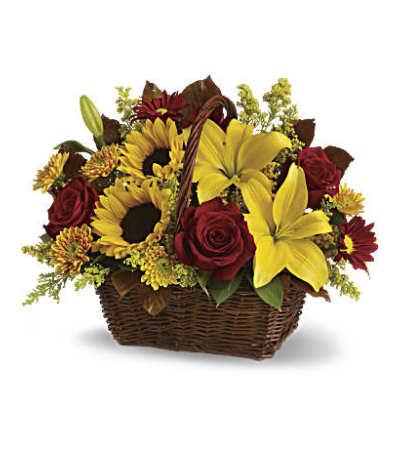 Golden Fall Basket