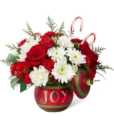 Season's Joyful Candy Cane Greetings Bouquet