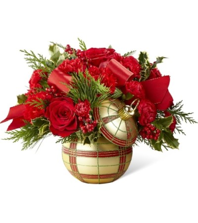 Golden Plaid Holiday Delight Bouquet